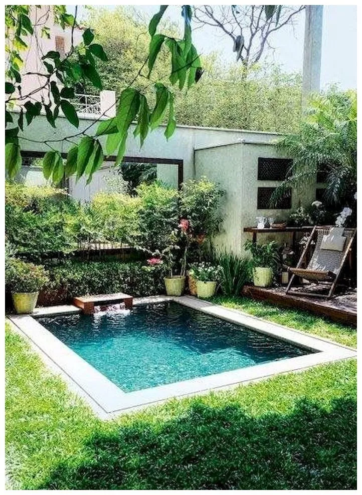 49 Gorgeous Backyard Pool Ideas With Inground Landscaping Design Solnet Sy Com Small Pool Design Swimming Pools Backyard Small Inground Pool