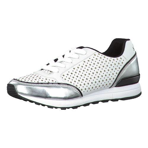 #S.Oliver #RED #LABEL #Damen #Aliza #Sneakers #weiß Das Leder der s.Oliver Aliza Sneakers ist auffällig perforiert und erzeugt einen besonders sportiven Look. Metallische Glanzeffekte sorgen für die modische Optik. - Verschluss: Schnürverschluss - gepolsterte Schaftkante - weiche Soft Foam Decksohle aus Leder - verstärkte Ferse - Gummilaufsohle mit rutschhemmendem Profil