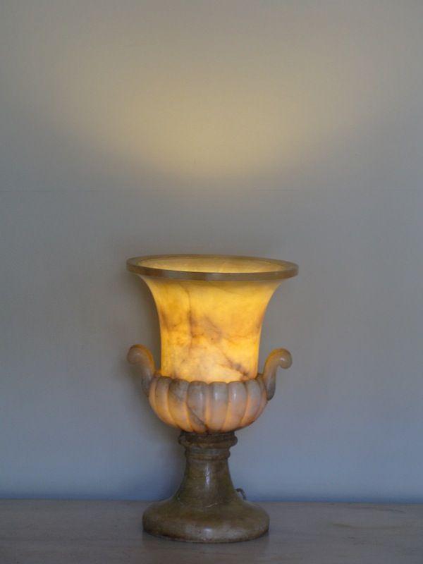 Beautiful Vintage Alabaster Standard