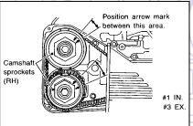 Valve Adjustment Subaru DOHC 2.5: In this position, the #1