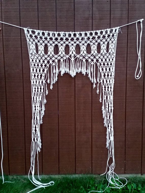 Handmade Macrame Curtain / Wedding Decor / Check out this item in ...
