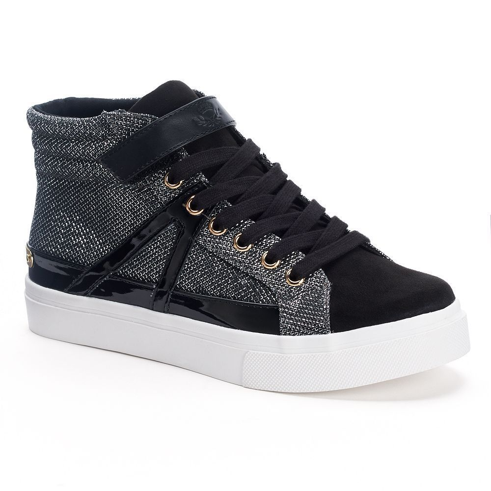 2463680d7585 NIB Women s Juicy Couture High-Top Sneakers Kaisa Sparkle Boots Black  Choose  JuicyCouture  FashionAnkle