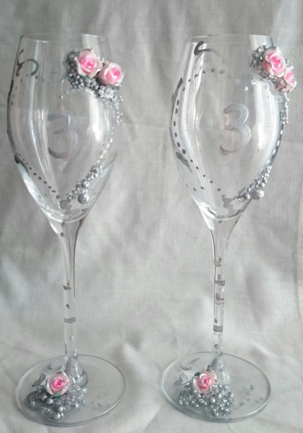 Wedding champagne glasses de KateArte en Etsy