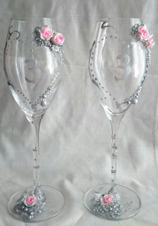 Wedding champagne glasses de KateArte en Etsy