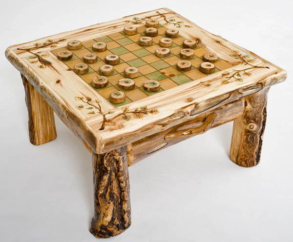 Rustic Checker Board Table Woodland Creek Furniture Checkerboard Table Rustic Pub Table Game Room Furniture