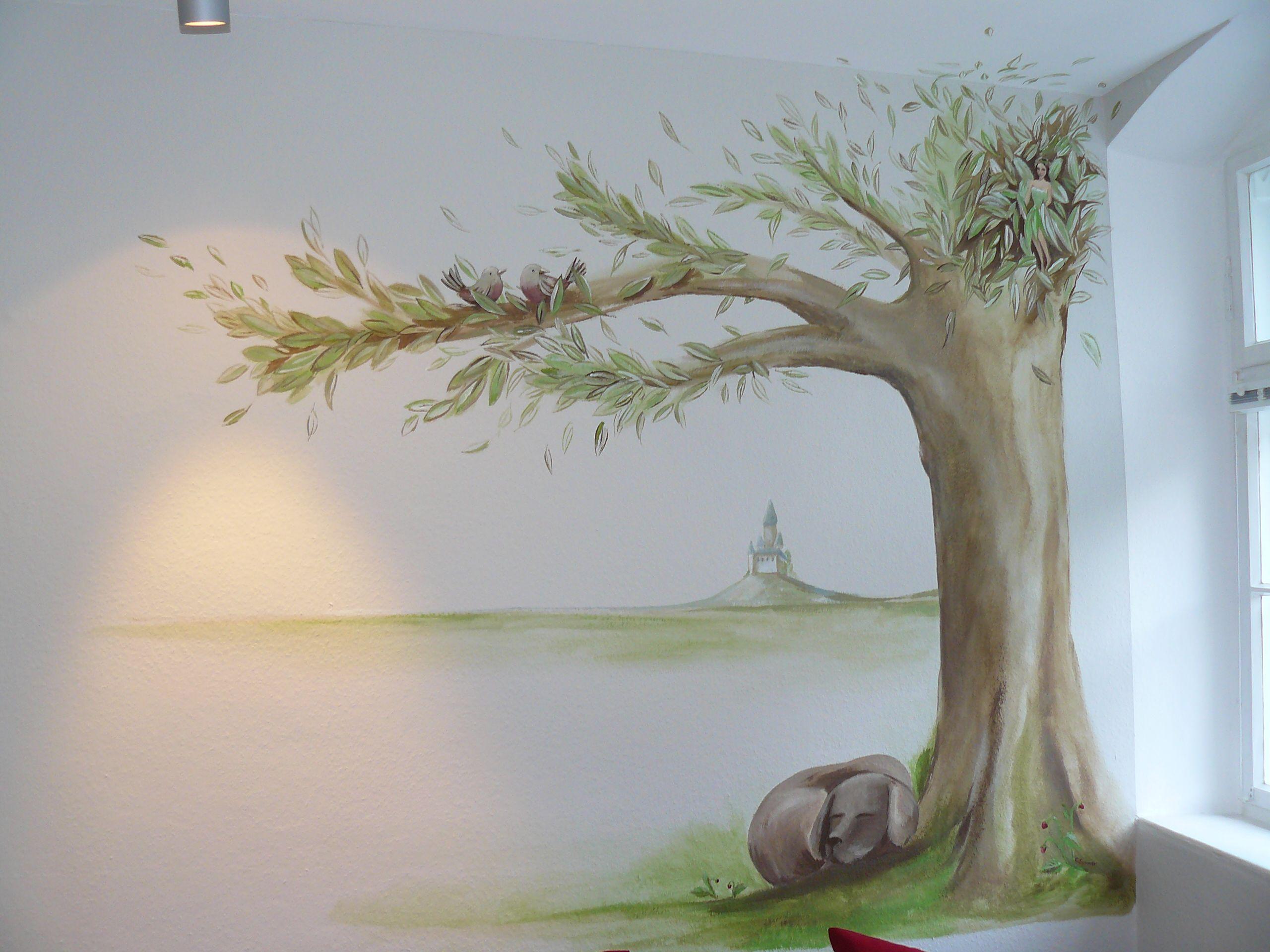 Carola Sommer❤Wände Kinderzimmer Malerei Fee Hund Gestaltung ...