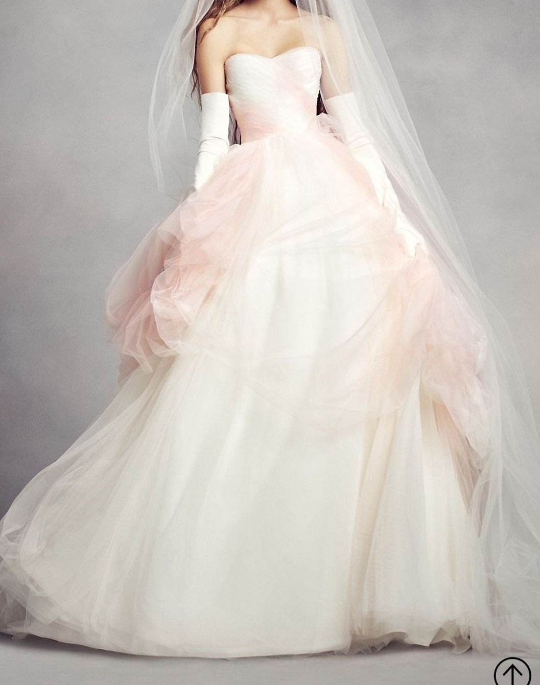Vera Wang Strapless Tulle Ombre Ballgown In Ivory Pearl Nwt New Wedding Dress Save 41 Vera Wang Dress Wedding Dresses Vera Wang Ball Gown Wedding Dress