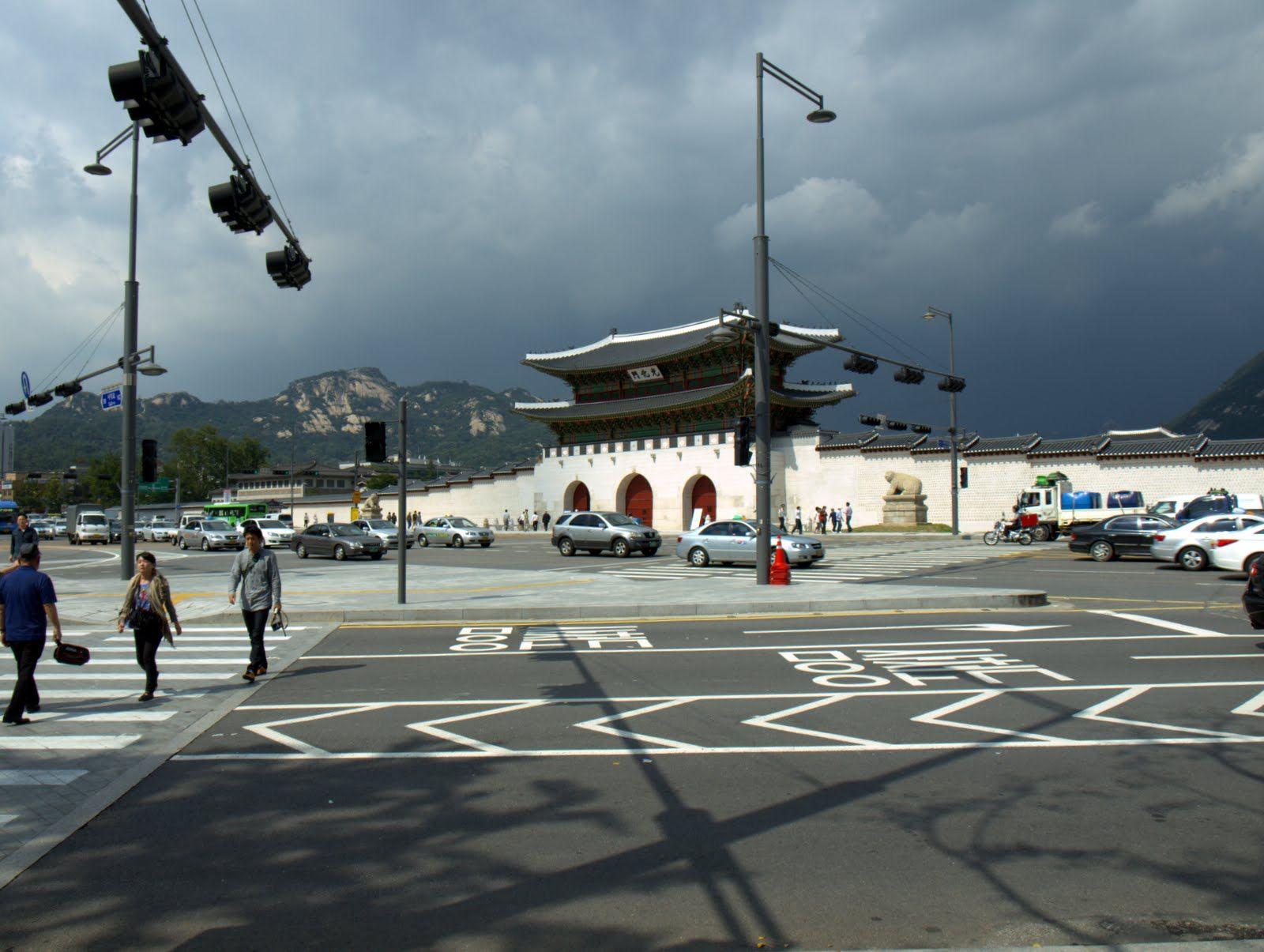 Kwang-Hwa-Moon (光化門) Gate, Kyung-Bok-Geung (景福宮) Palace, Seoul, Korea