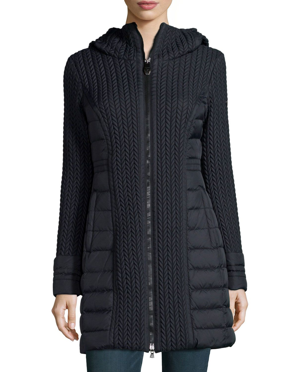 Post Card Mesa Cable-Quilted Puffer Coat   Coat, Winter ...