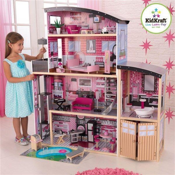 KidKraft 65826 Kids Sparkle Mansion Big Wood Doll House