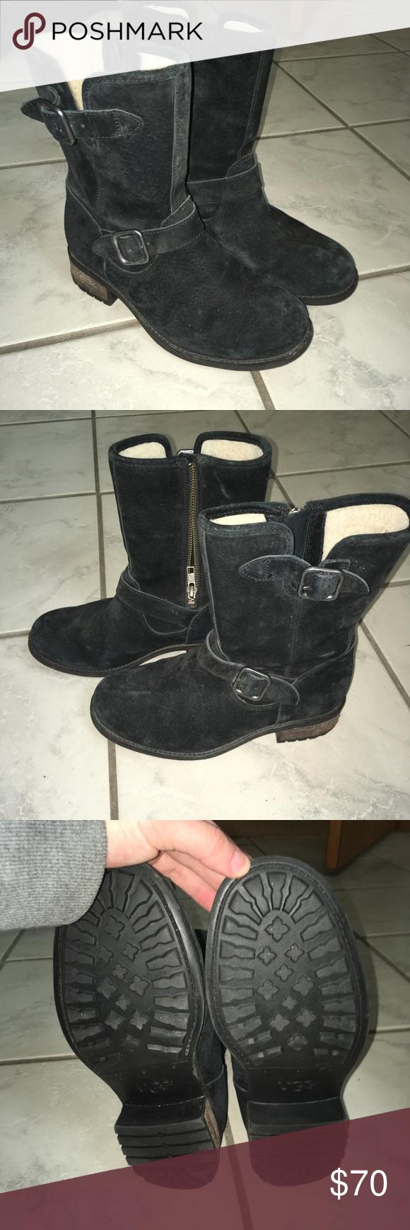 Lined suede Ugg Australia boots EUC! Hardly worn! Size 6