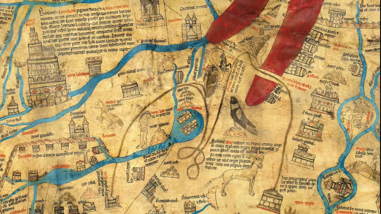 Hereford World Map Mappa Mundi reproduction limited to1000 copies