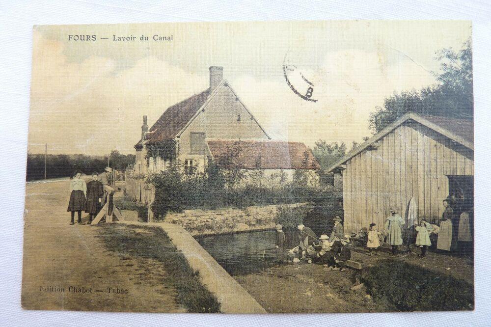 Cpa 58 Fours Lavoir Du Canal 1909 Ref E 07 En 2020 Carte
