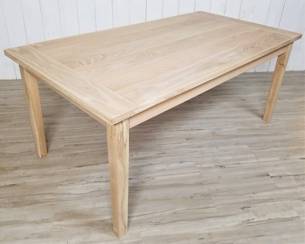Classic Solid White Oak Dining Table Unfinished Or Finished Etsy White Oak Dining Table Oak Dining Table Dining Table
