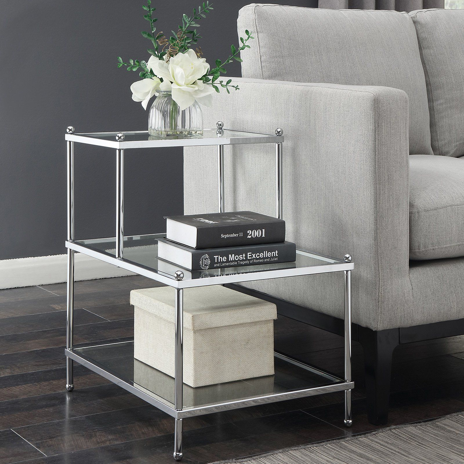 Convenience Concepts Royal Crest 3 Tier Step End Table In 2019 End Tables Furniture Table
