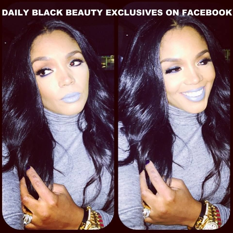 Frost Cold Rasheeda African American Women Makeup Check Out More On Daily Black Beauty Exclusives On Facebook Beauty Good Skin How To Apply Lipstick