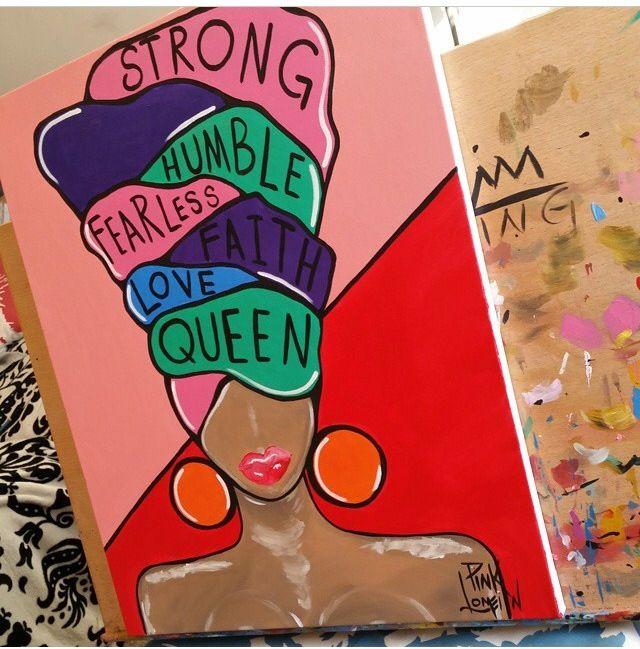 Pinklomein Queen Black Art Painting Diy Canvas Art Black Art Pictures