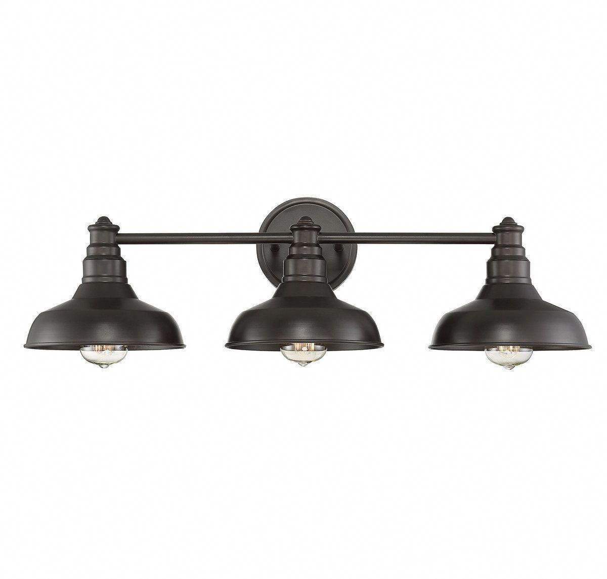 Trade Winds Vintage 3 Light Bathroom Vanity Light In Oil Rubbed Bronze In 2020 Bronze Bathroom Bathroom Vanity Lighting Oil Rubbed Bronze Bathroom
