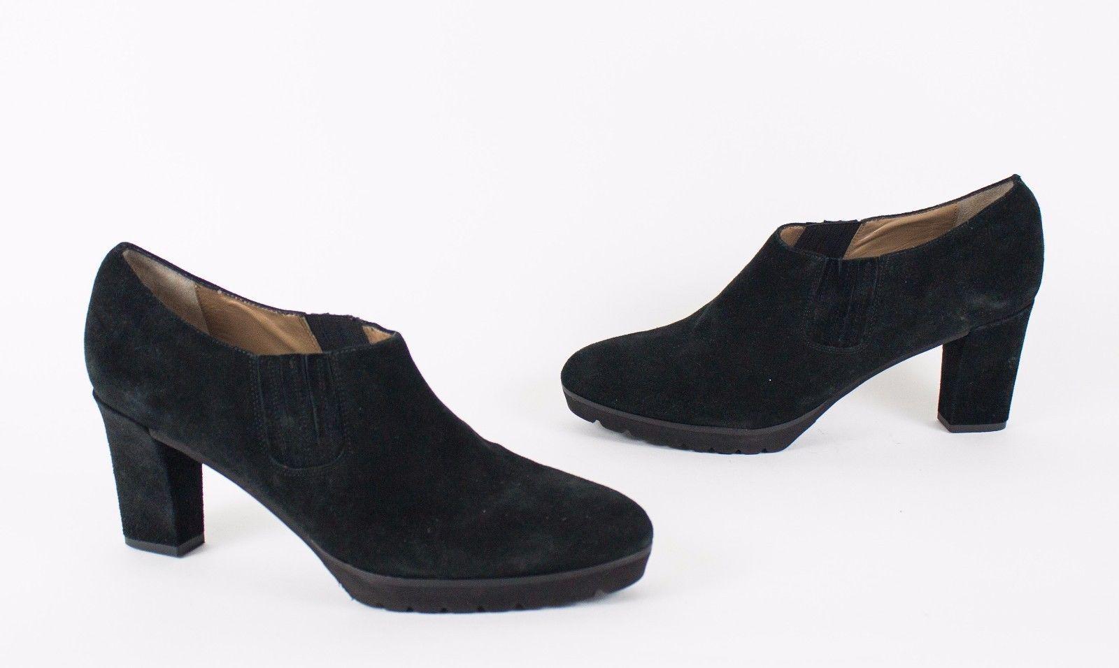 Anyi Lu Natalie Black Suede Women's Ankle Bootie EU 41.5 US 11