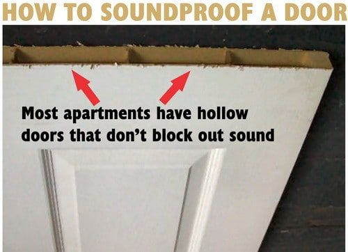 How To Soundproof A Bedroom Door Do It Yourself Sound Proofing Soundproof Room Sound Proofing Apartment