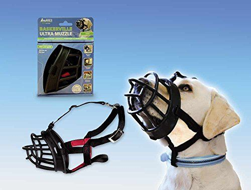 Baskerville 10 Inch Rubber Ultra Muzzle Size 6 Black By The
