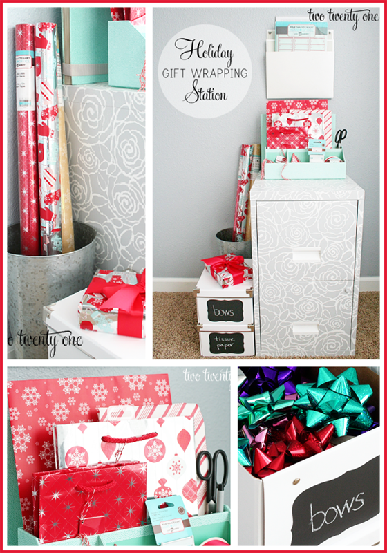 Christmas Gift Wrapping Station.Holiday Gift Wrapping Station With Martha Stewart With