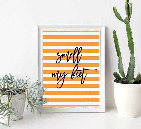 Halloween Printable Decor, Smell My Feet, Halloween Wall Art, Brush - how to decorate home for halloween