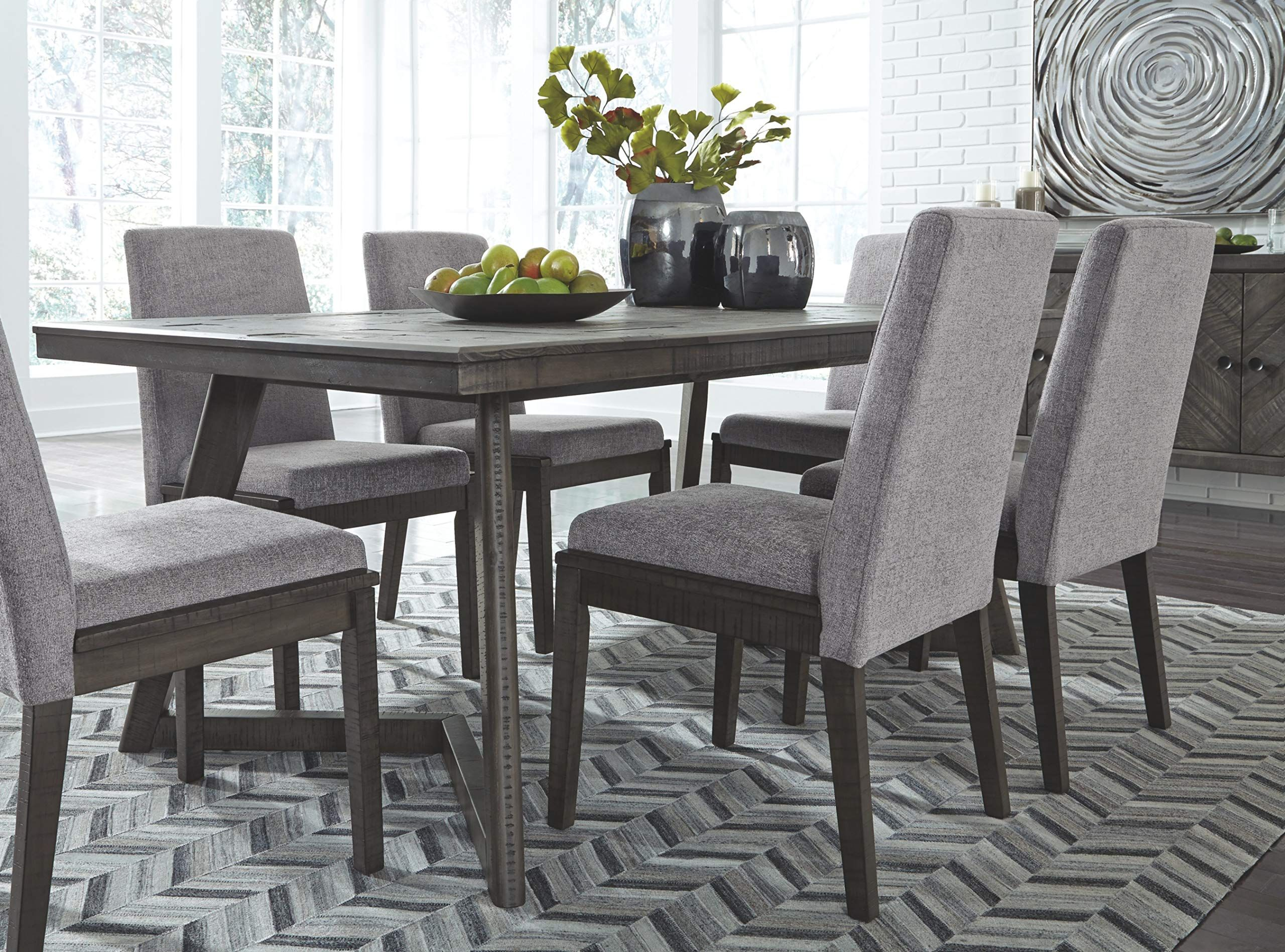 Signature Design By Ashley Besteneer Rectangular Dining Room Table Contemporary Style Rectangular Dining Room Table Dining Room Table Grey Dining Tables