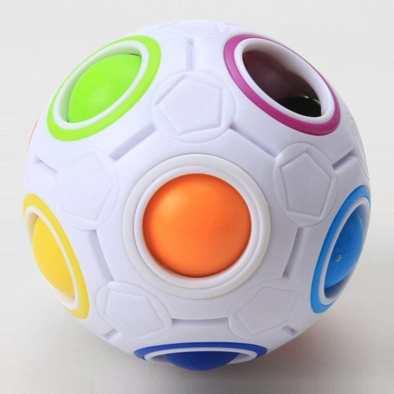 Hot Yongjun Spherical Magic Cube Toys Novelty Rainbow Football Puzzle Cubes Learning Educational For Children Kids