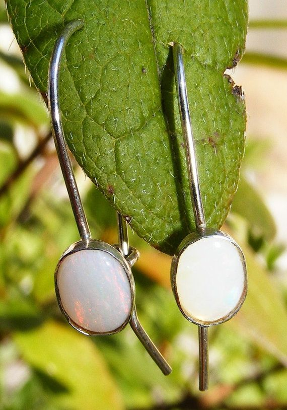 Sterling Silver & Welo Opal Cabochon Drop by GoldiesNaturalGems, $55.00 #handmade #jewelry #fashion