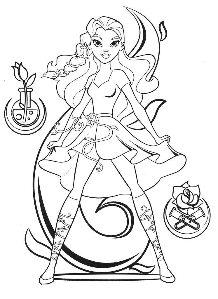 DC Superhero Girls Coloring Pages Superhero coloring