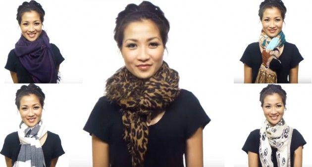 25 maneiras diferentes de usar lenço e cachecol: vídeo ensina todas em menos de 5 minutos