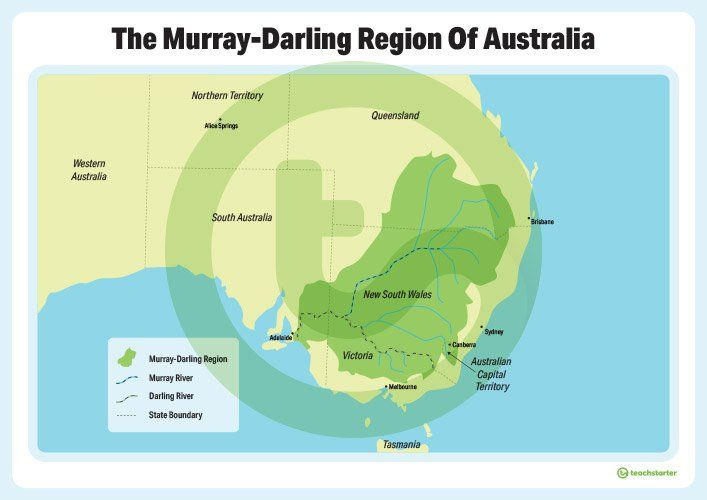 the murray darling region of australia poster teaching resource teaching resources and geography