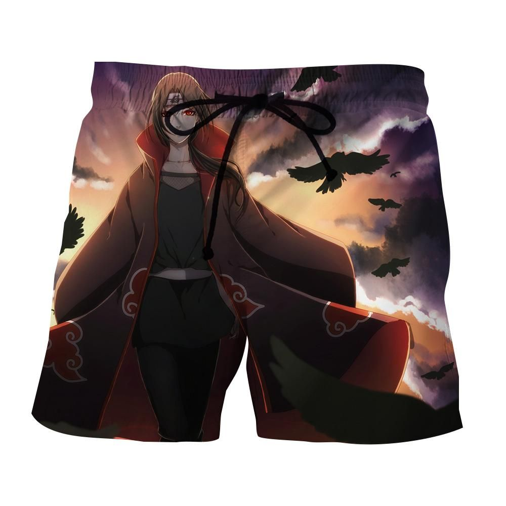 Itachi uchiha cool shorts itachi naruto clothing fan art