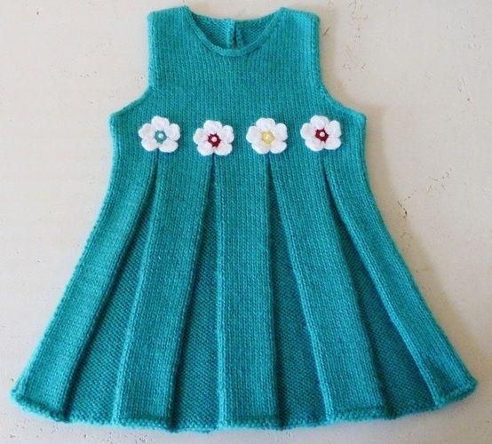 Kız Bebekler İçin Örgü Elbise Modelleri