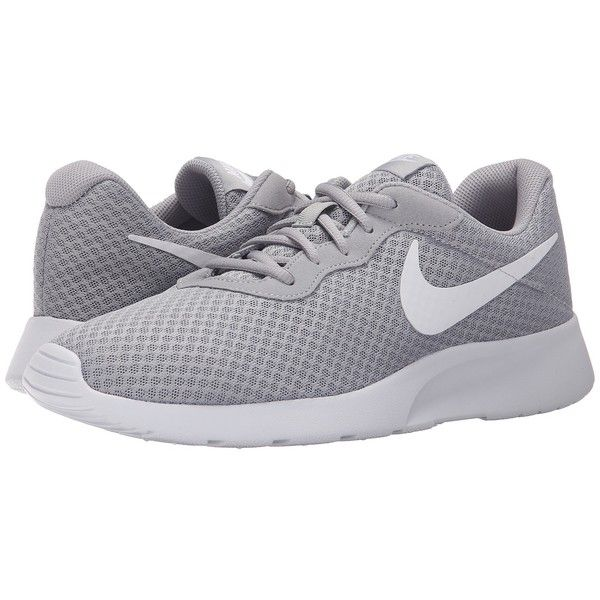 e4d867fcb Nike Tanjun (Wolf Grey White) Men s Running Shoes ( 65) ❤ liked on Polyvore  featuring men s fashion