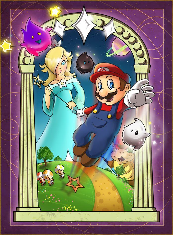 Super Mario Galaxy Mario fan art, Super mario galaxy