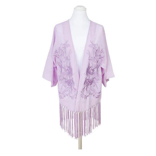 Pia Rossini Lilac Avalon Kimono ($82) ❤ liked on Polyvore featuring  intimates, robes