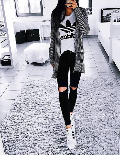 pinterest \ emilybytheocean ✿ | Adidas outfit, Casual