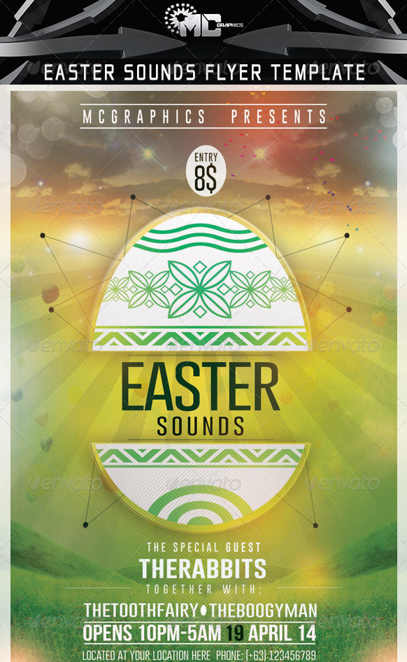 Awesome Easter Party Flyer Template   Awesome Easter Party