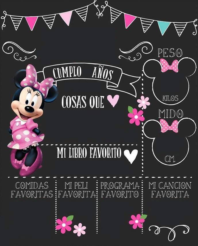 Pin De Raquel En Minnie Mouse Party Pizarras De