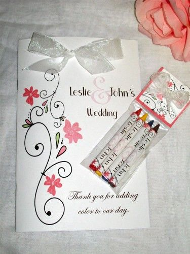 wedding coloring books with matching crayons personalized - Personalized Wedding Coloring Book