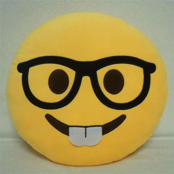 New Hot 10styles Soft Emoji Smiley Emoticon Yellow Round Cushion Pillow Sofa Stuffed Plush Toy Doll For Cute Home De Emoji Cushions Emoji Pillows Emoji Bedding