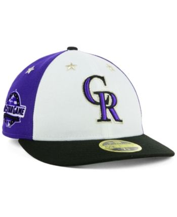 new concept 4af02 356f7 New Era Colorado Rockies All Star Game Patch Low Profile 59FIFTY Fitted Cap  2018 - Black 7 1 8
