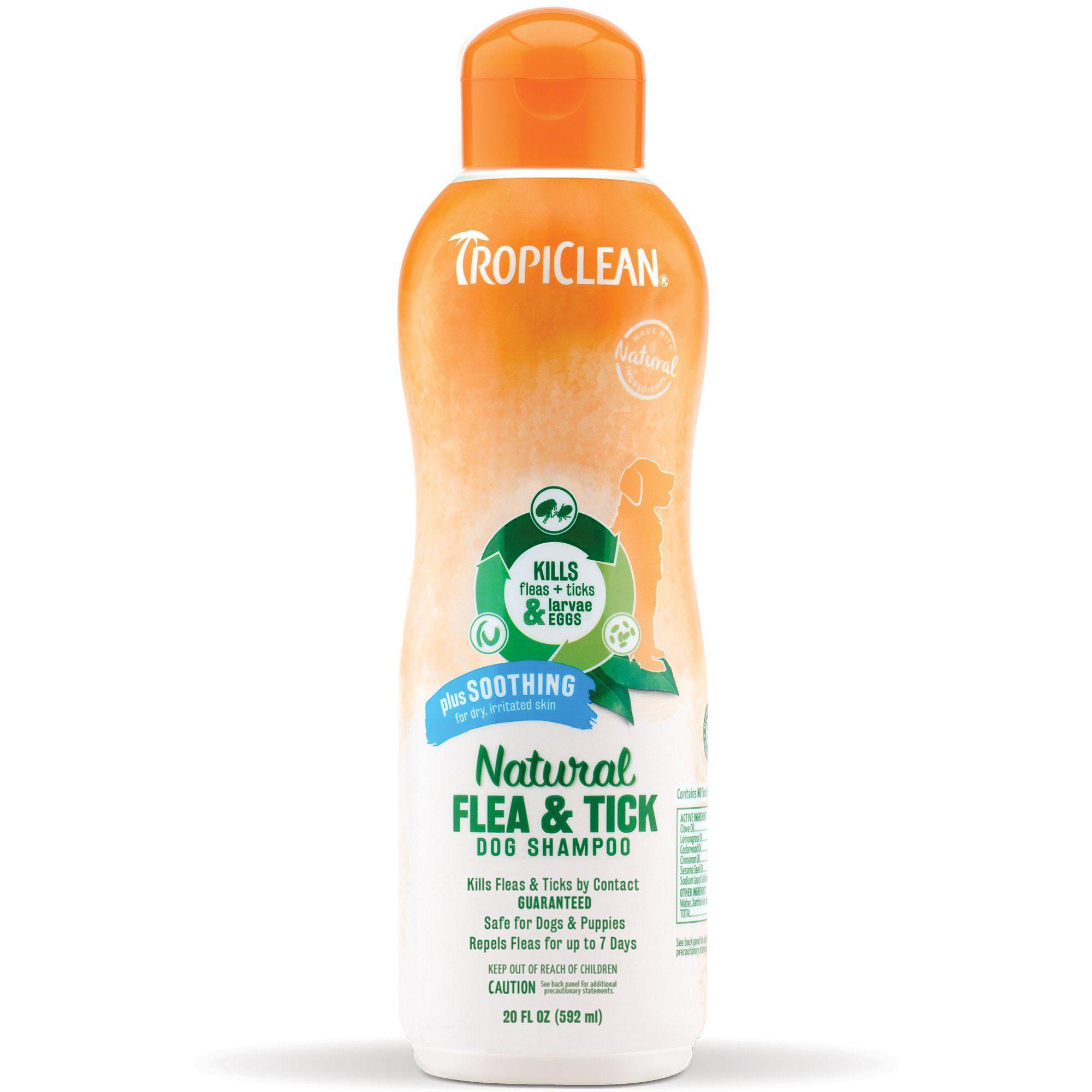 Tropiclean Natural Flea & Tick Soothing Shampoo, 20 fl. oz