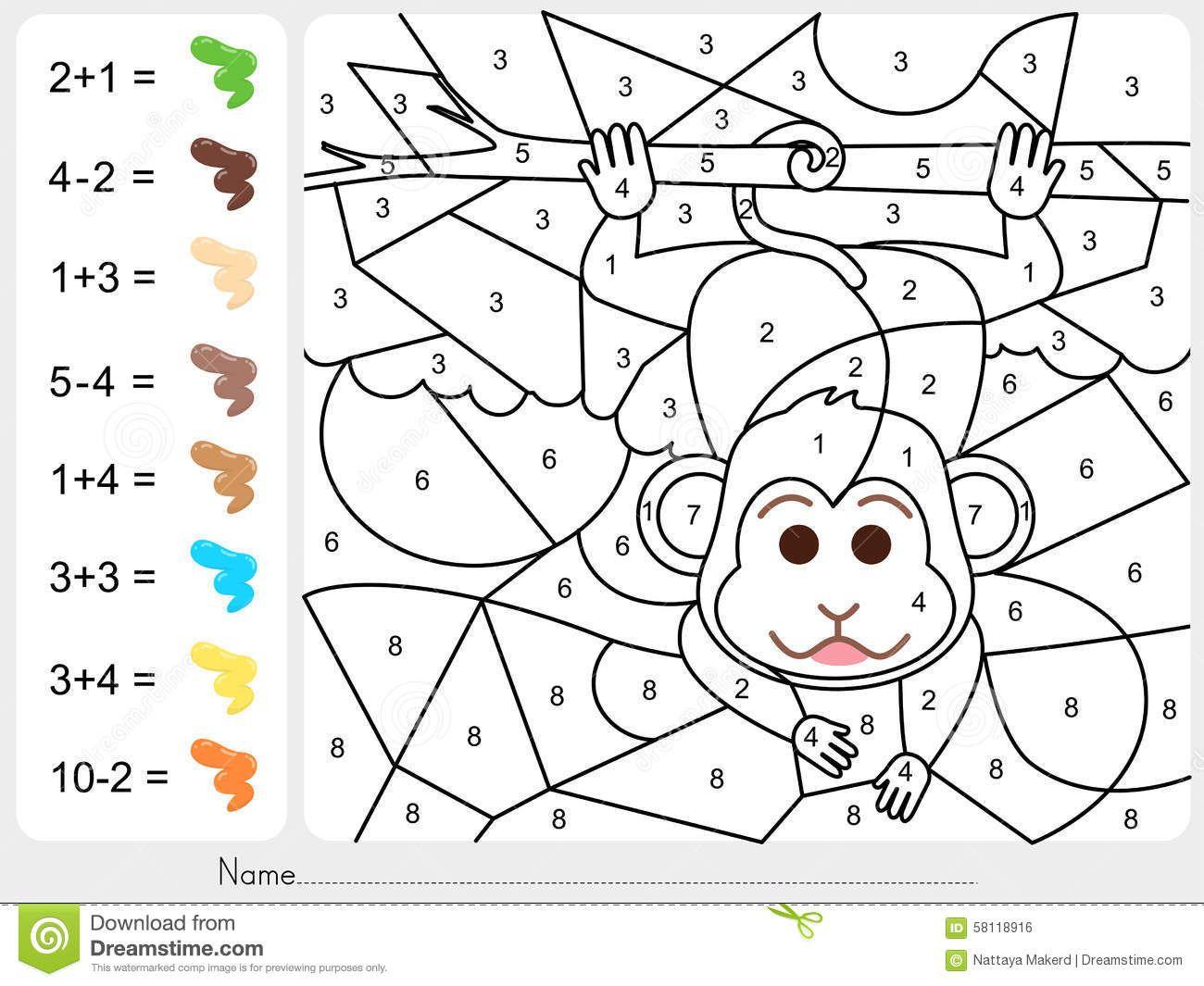 Hermosa Hojas Para Colorear Con Números Bosquejo - Dibujos Para ...