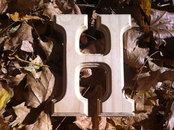 letter a and r wood capital letter h h 6 inches by wright4design 9709