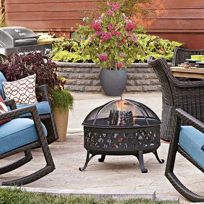 How To Design And Build A Paver Patio Lowes Patio Furniture Patio Makeover Patio Furniture Inspiration