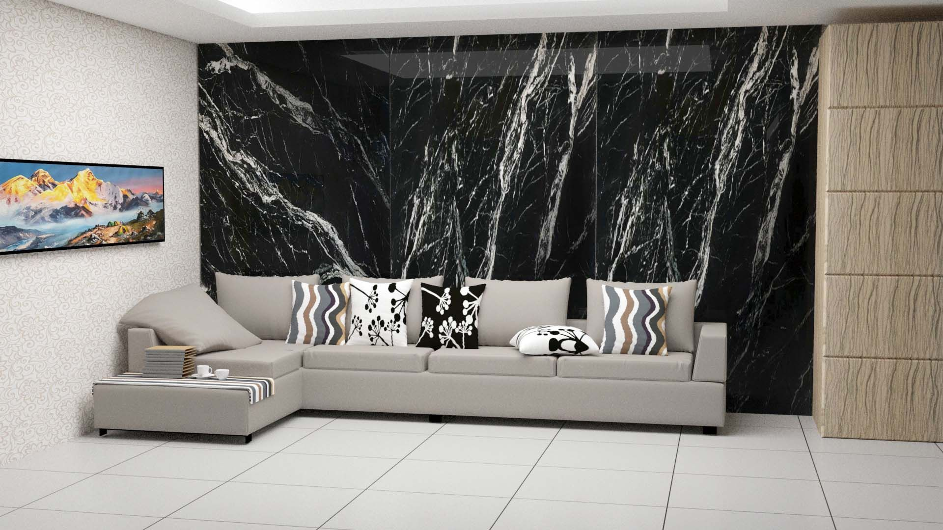 Black Marine Marble On The Wall Marble Colors Marble Living Sp