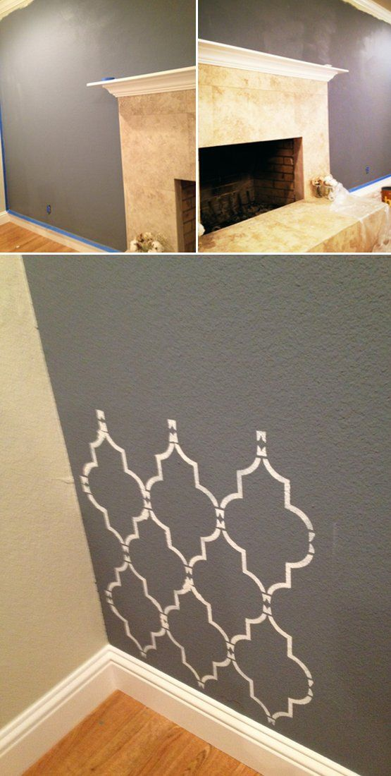 Home Blog / Home Decor Trends Moroccan Pattern Stencil Wall